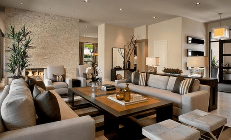 How To Decorate Pillars In Living Room